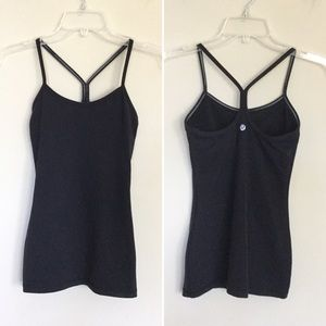 LULULEMON 2 in 1 Power Y Tank Black